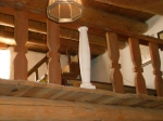 Woodworkers and craftspeople will restore the balcony balustrade back to its original beauty.